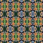 Orange Day Lily Design Art Print