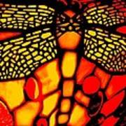 Orange Dragonfly Art Print