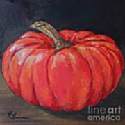 Orange Fairytale Pumpkin Art Print