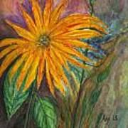 Orange Flower Art Print by Anais DelaVega