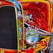 Orange Ford Art Print