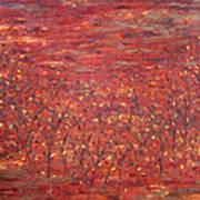 Orange Forest Art Print