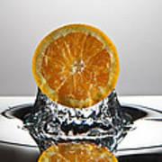 Orange Freshsplash Art Print