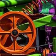 Orange Gear Print by Garry Gay