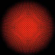 Optical Illusion - Orange On Black Art Print