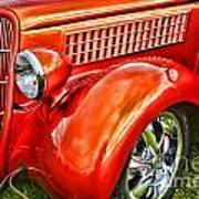 Orange Hood And Fender-hdr Art Print