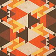 Orange Maze Art Print