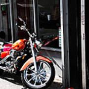 Orange Motorcycle Art Print