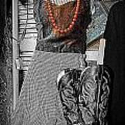 Vintage Orange Necklace Art Print