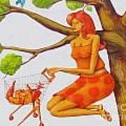 Orange Olga Art Print