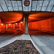Orange Parking Garage Art Print