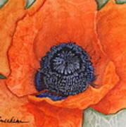 Orange Pop Watercolor Art Print