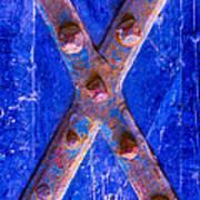 Orange Red X Art Print