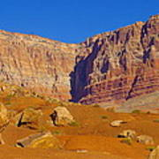 Orange Rock Before The Cliffs Art Print