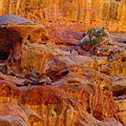 Orange Rock Formation Art Print