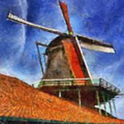 Orange Sails Art Print