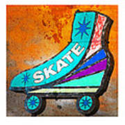 Orange Skate Art Print by Gail Lawnicki
