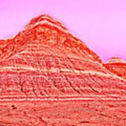 Orange Slice Mountain Art Print