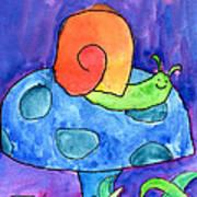 Orange Snail Art Print