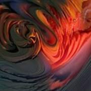 Orange Swirls Art Print by Kimberly Lyon