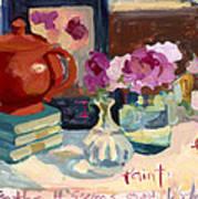 Orange Teapot Art Print