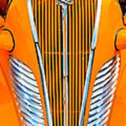 Orange Terraplane Art Print