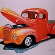Orange Truck Art Print