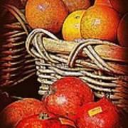 Oranges And Persimmons Art Print