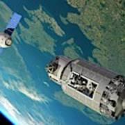 Orbital Maintenance Docking Art Print