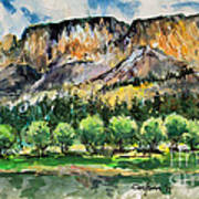 Orchard In The Valley Art Print