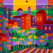 Orchard Villa Art Print