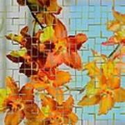 Orchid Drapes Art Print