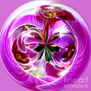 Orchid Orb I Art Print