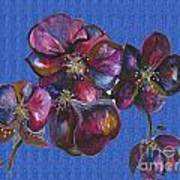 Orchids Blue Art Print