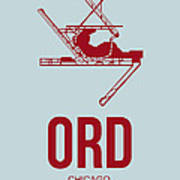 Ord Chicago Airport Poster 3 Art Print