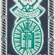 Order Of The 20th Anniversary Release 17 November 1940 To 1960 Patriam Servando Victoriam Tulit Art Print