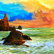 Oregon Coast At Sunset Art Print