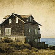 Oregon Coast Beach House Art Print