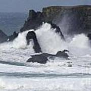 Oregon Coast Furrious Waves 1 Art Print