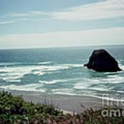 Oregon Coast Ghost Surfer Art Print