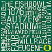 Oregon College Colors Subway Art Art Print by Replay Photos