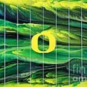 Oregon Football Art Print