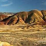 Oregon Painted Landscape Art Print