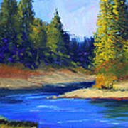 Oregon River Landscape Art Print