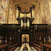 Organ And Choir - King's College Chapel Art Print