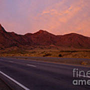 Organ Mountain Sunrise Highway Print by Mike  Dawson