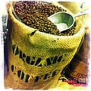 Organic Coffee Art Print