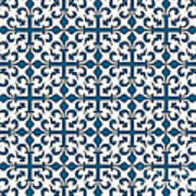 Orient Blue And White Interlude Art Print