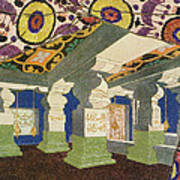 Oriental Scenery Design Art Print