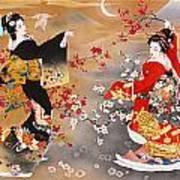 Oriental Triptych Art Print